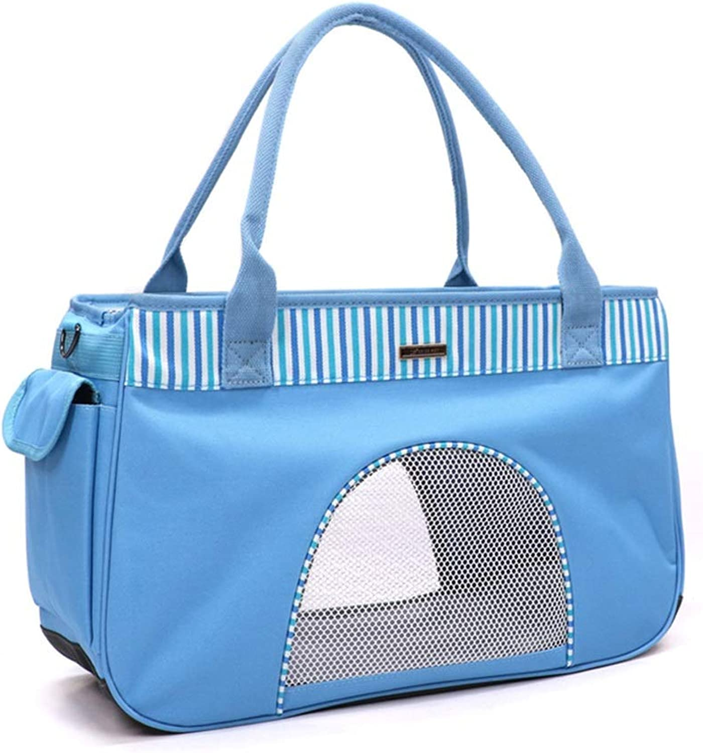 Pet Bag Dog Out Carrying Bag Cat Hand Back (color   Sbluee)
