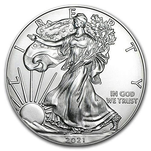 2021 American Eagle Silver Coin 1 oz 999 Fine Silver $1 Brilliant Uncirculated New