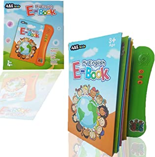 English Electronic Touch Paper Sound Book ABC Alphabet Letters Animals Numbers Shapes Colors Fruits Vehicless for kids chi...