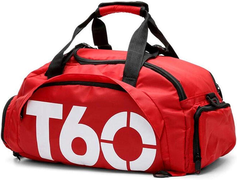 17L Sports Gym Backpack Fitness Outdoor Camping Travel Shoulder Bag Handbag shoes Bag  Red