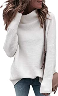 Womens Turtleneck Sweater Long Sleeve High Neck Pullover Jumper