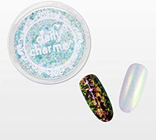 DAILY CHARME Iridescent Nail Art Mermaid Flakes Decoration 5 Different Colors (Aurora Unicorn)