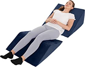 Bed Wedge Pillow – 2 Separate Memory Foam Incline Cushions, System for Legs, Knees and..