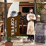 Fresh Hot Coffee Flagge und Stangen Set – 2,4 m große Werbung Flagge für Kaffee Shop