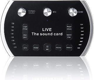 EAX 4.0 1200mAh Two Channel USB Interface External Sound Card Microphone Webcast Live Sound Card YUG