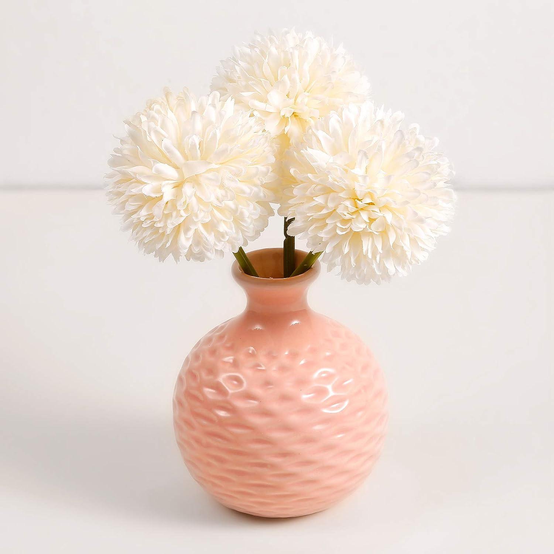 EASE ART Vaso Piccolo Vasi Moderni per Fiori Mini Vaso Decorativo in Ceramica Ideale per Arredamento Ufficio Matrimonio Casa