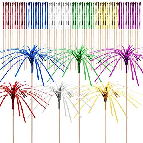 Hileyu Palitos de Cóctel,Paquete de 100 Palillos de Cóctel de Palmera, Palillo de Frutas Decoraciones para Cócteles Artículos de Fiesta para Bodas, Fiestas de Verano
