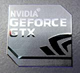 Vath Made Polished Metal Sticker Compatible with GEFORCE GTX 18mm x 18mm [830]