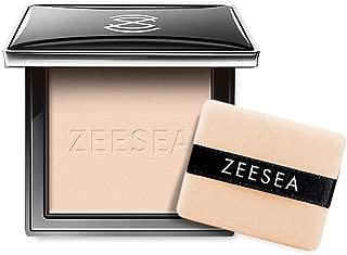 ZEESEA Pressed Powder Makeup Silky Touch Magic Compact Powder Foundation,Waterproof, Setting, Mattifying, Lightweight, Long Lasting, Concealer #M00 Light Skin