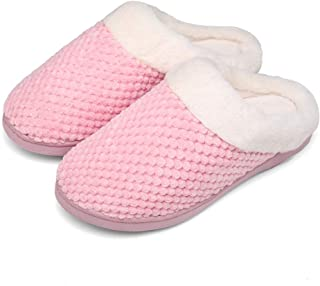 SLEEPERS Ladies Women/'s Fleece Lined Slippers Colour Dot Booties Blue or Pink