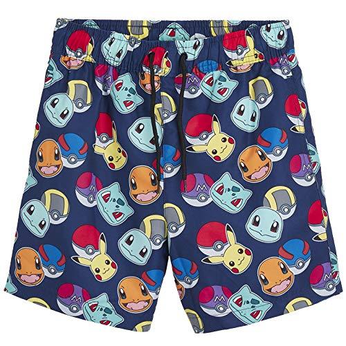 Pokèmon Pantalones Cortos Pantalones Cortos De Natación para Niños con Pikachu Y Pokeballs | Ropa para Niños En Tamaño 5 A 14 Años | Trajes De Natación para Niños (13/14 Años)