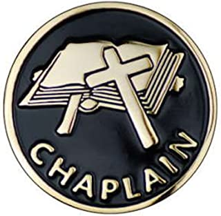 Chaplain Cross Enamel Gold Tone Lapel Pin