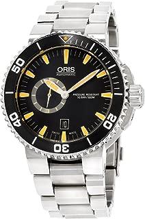 Oris Aquis Small Second Date Automatic Movement Black Dial Men's Watch 01-743-7673-4159-MB