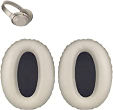 WH1000XM2 Earpads Replacement Ear Pads Cushions Muffs Repair Parts Compatible with Sony MDR-1000X WH1000XM2 Wireless Bluetooth Over The Ear Headphones. (Silver)