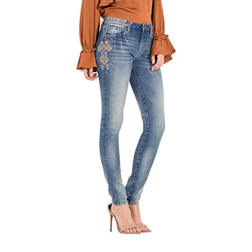 5303c85c046 Miss Me Tribal mid-Rise Skinny Jeans
