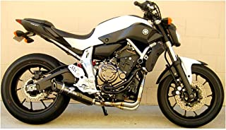 15-17 Yamaha FZ07: Graves Full System Exhaust (Carbon Fiber Can with Carbon End Cap)