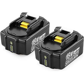 BL1860B Batterie de Remplacement pour 18V BL1860B BL1860 BL1850B BL1850 BL1830 BL1840 BL1845 BL1815 BL1820 BL1835 194205-3 194204-5 LXT-400