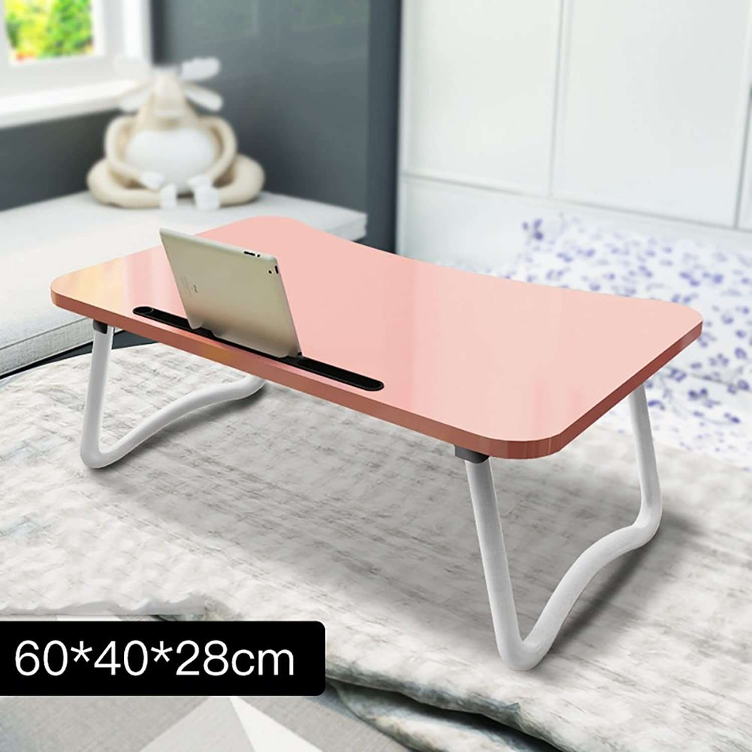 MEI XU Laptop Desk - Small Wooden Folding Desk Desk - Mobile Rack Outdoor Folding Kitchen and Dining Table Camping Picnic @