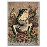 Frog Poster Size:12x18inch /16x24inch /20x28inch/24x32inch/ Framed or Unframed Can choose.If you have any needs, you can contact us by email. High-definition giclee prints on premium cotton canvas, waterproof, UV resistant and fading resistant indoor...