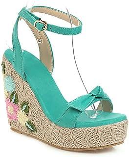 Ladies Wedge Sandals Women Roman Shoes Thick-Bottom Waterproof Espadrilles Heels Platform Sandal Shoes Memela