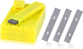 4-Inch Scraper Blades, Kattool 100PCS Replacement Scraper Blades Stainless Steel Razor Blade for Scraper Single Edge Razor Blades