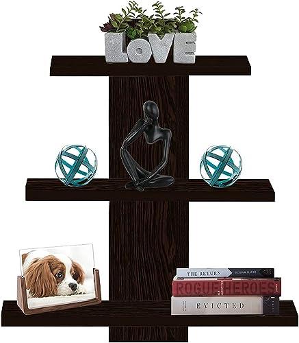 Furniture Cafe® Wooden Wall Shelf Home Decor Items Rack Floating Book Shelves For Living Room, Bedroom, Kitchen Corne...