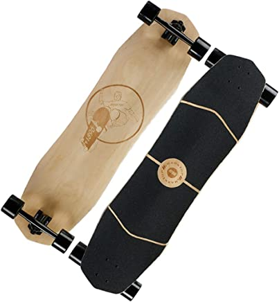 KGMYGS Skateboard tavola Lunga Discesa in Corda Doppia Pennello Strada principiante Longboard tavola da Strada a Tutto Tondo Bordo Rappelling Board Brush Street Skateboard (Colore : D)