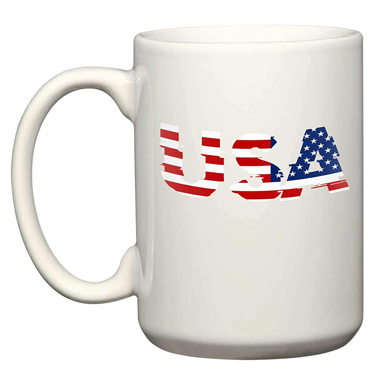 Usa 2 15 Oz White Coffee Mugs