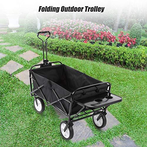 Zoternen Sackkarre, faltbar, Handwagen, mit Ablagefach, Tragkraft bis 70 kg, für Garten, Strand, Outdoor