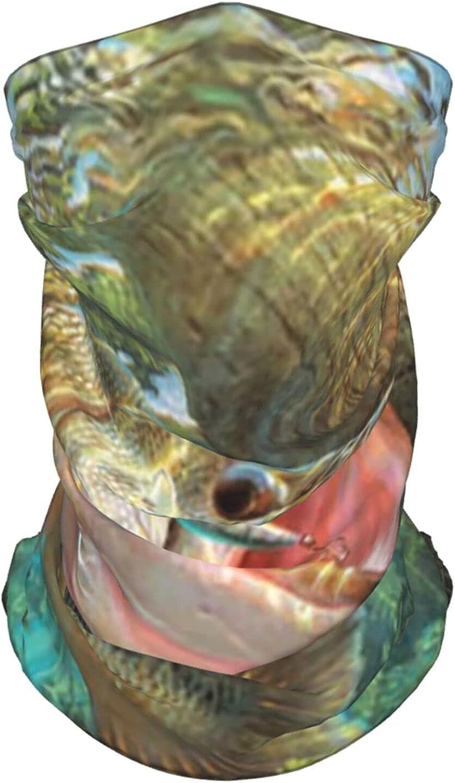 Bass Fish Neck Gaiter Multipurpose Headwear Ice Silk Mask Scarf Summer Cool Breathable Outdoor Sport 2 PCS