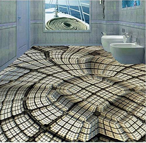 Idee Di Moda 3D-papier, motief: 3D-vloeren, voor wand, vierkant, met tegel voor vloeren, zelfklevend, 3D 300cm(L) x210cm(W)