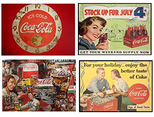 Lot de 4 sets de table Motif Coca Cola vintage 2