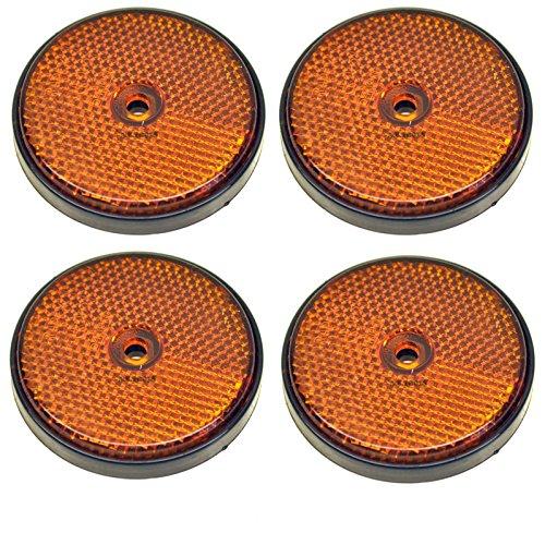 Réflecteur côté ronde orange Pack de 4 pour les remorques/Clôture Gate Posts TR066