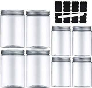 MEIXI Boite Hermetique Alimentaire, Boite de Conservation Alimentaire Bocal Plastique Transparent 8 Stück (4 Stück 600ml +...