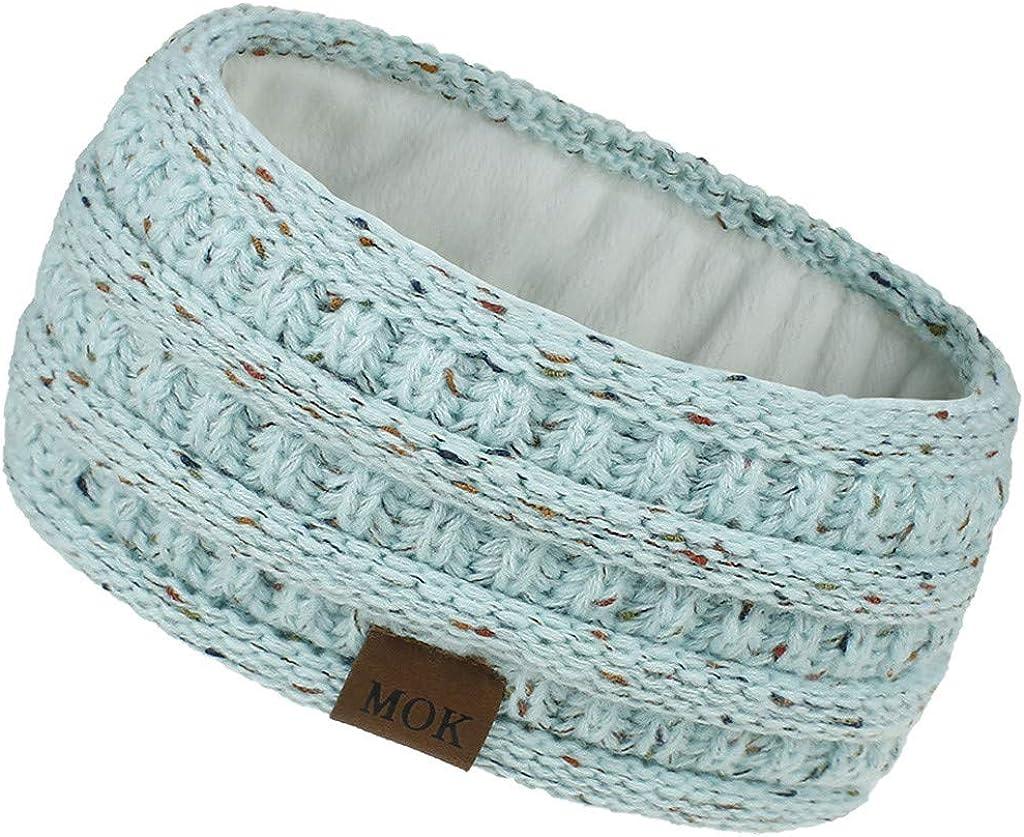 Neferlife Women's Winter Warm Fuzzy Headband Knit Soft Stretchy Head Wrap