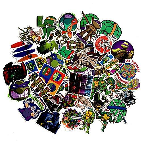 LMY Pegatinas de dibujos animados adolescentes Mutantes Ninja Turtles Personalidad Pvc Impermeable...