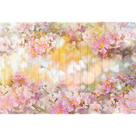 AOFOTO 5x3ft Pink Floral Wood Backdrops Spring Blossom Flowers Wooden Wall Valentines Day Decoration Wallpaper Photography Background Newborn Kids Baby Portrait Photoshoot Photo Studio Props Vinyl