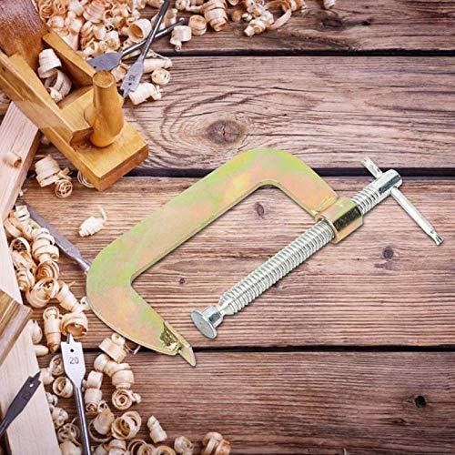 Abrazadera en C Accesorio de soldadura de alta resistencia Abrazadera G Soporte de agarre rápido para trabajos en metal(8 inches)