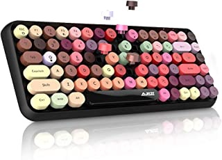 NACODEX 308I Wireless Bluetooth Keyboard, 84 Keys Cute Retro