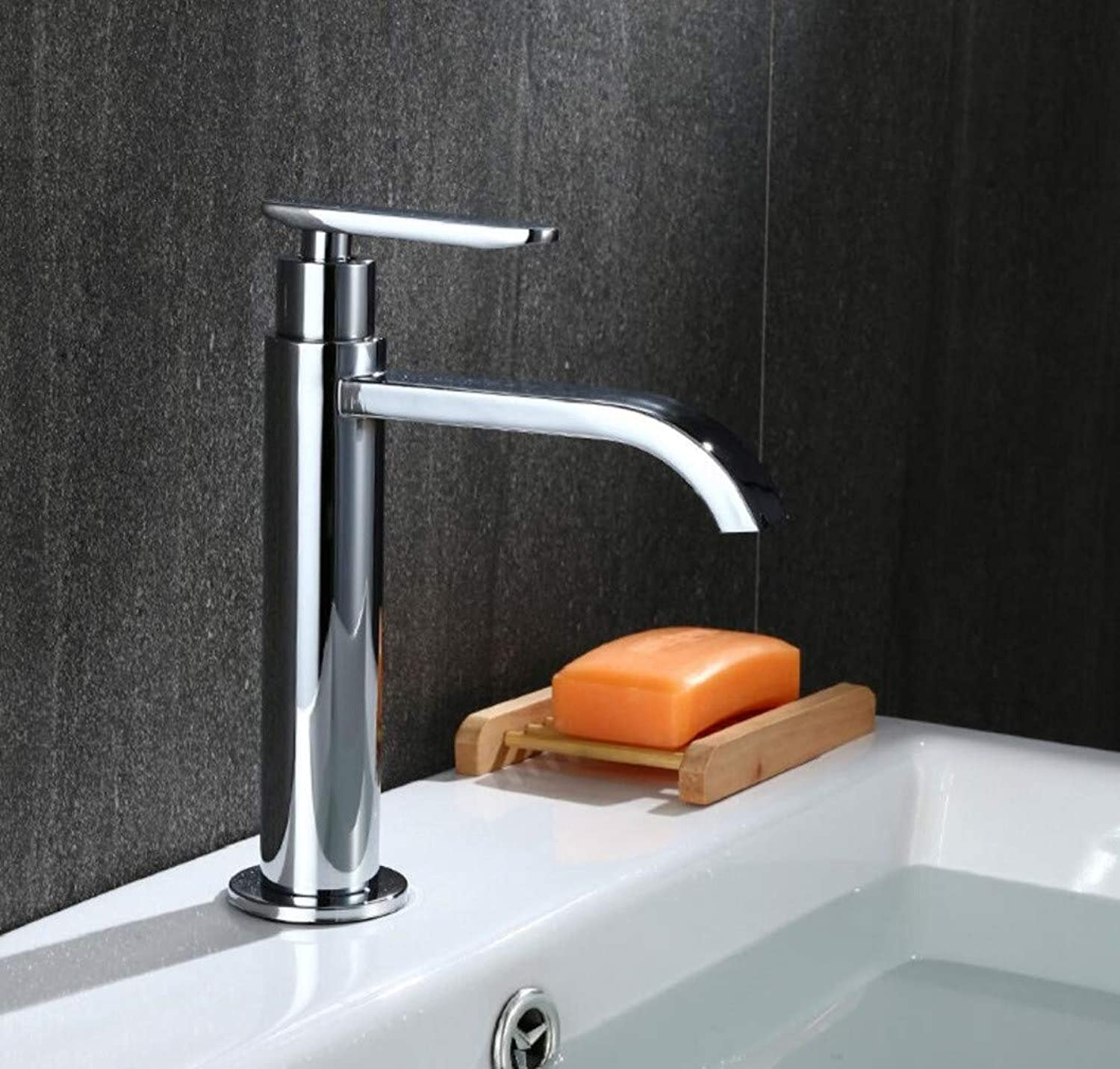 Bathroom Taps Single Cold Basin Flat Mouth Faucet Bathroom Sink Tap Basin Sink Mixer Tap