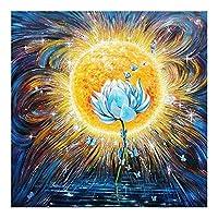 小さな蓮の花 -大人のためのDIY5Dダイヤモンドペインティング絵画キットフルドリルラインストーン貼り付けアートクラフトダ家の装飾モザイクキッズなギフト40X50cm