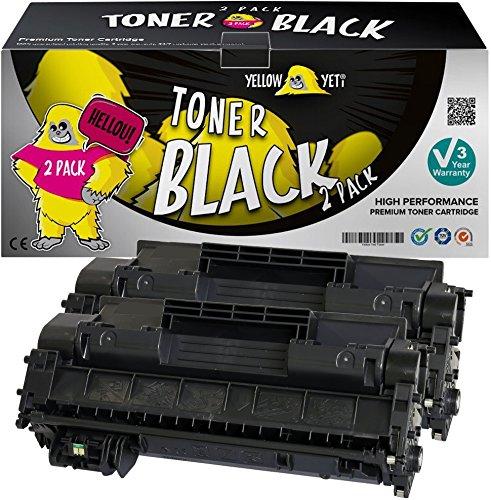 Yellow Yeti CE505A 05A (2300 páginas) 2X Tóner Compatible para HP Laserjet P2030 P2035 P2035n P2050d P2055 P2055d P2055dn P2055x Canon i-SENSYS LBP6300dn LBP6650dn LBP6670dn [3 años de garantía]