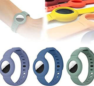 Voor Apple Airtag siliconen band armband beschermhoes, super lichte zachte huidvriendelijke tracker horlogeband, verstelba...