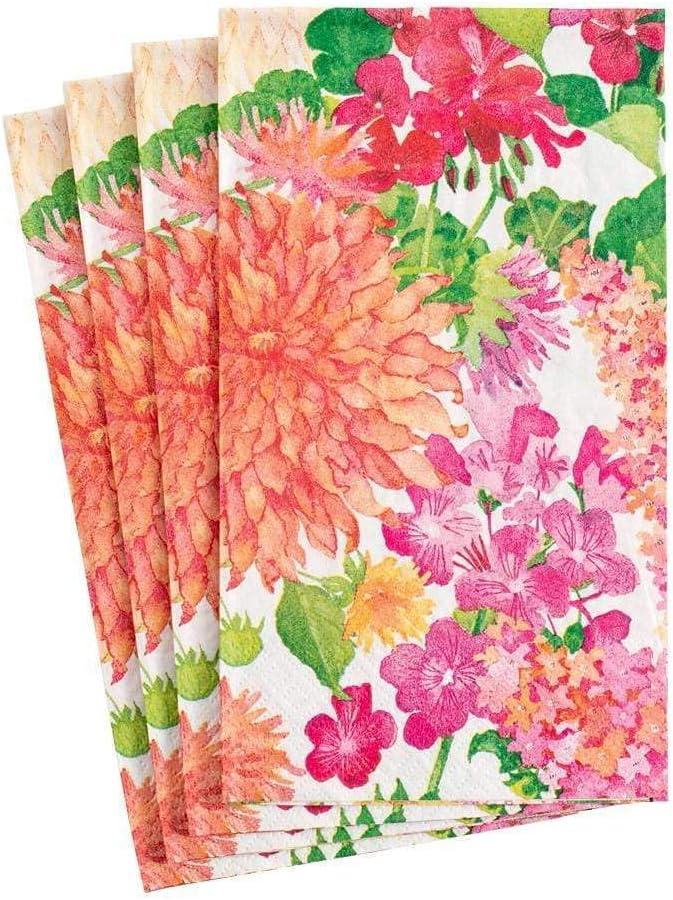 Caspari Summer Max 79% OFF Dedication Blooms Paper Guest Towel Four Napkins - Packs of