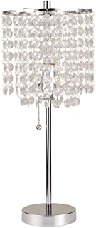 "Ore International 8315C Deco Glam Table Lamp, 20.25"", Silver"