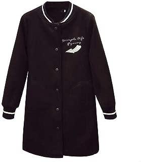Women Woolen Jacket Woolen Jacket Letter Embroidery Stand Windbreaker Coat B19