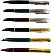 Ranvi Hero 616 Fountain Pen With Iridium Tipped Nib.3 PCS Golden Cap, 3 PCS Sliver Cap.