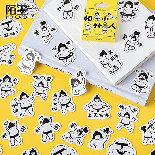 Kawaii Sumo wrestler Decorative Stickers Scrapbooking Stick Label Diary Stationery Album cute box Stickers