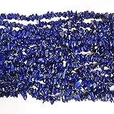 Lovionus89 150 cm de lapislázuli de cristal de forma irregular y cuentas de piedra de chipstone curativa para la fabricación de joyas.