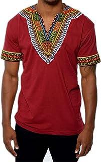651d0b5132a XARAZA Men s Short Sleeve Casual Dashiki Style T-Shirt African Blouse Tops